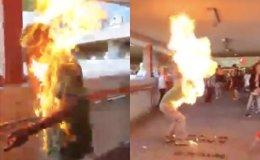Hong Kong man burned alive after chasing protesters at subway station