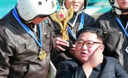 North Korean leader watches air show, calls for readiness to fight enemies