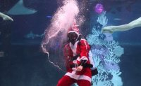 Christmas underwater: Santa takes a dive in Seoul [PHOTOS]
