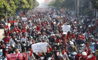 Protests sweep Myanmar to oppose military coup