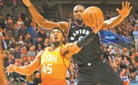 Ibaka helps Raptors edge Jazz 101-92