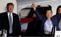 Trump boasts of getting detainees back, cites Warmbier case