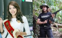 Myanmar beauty queen takes up arms against military junta