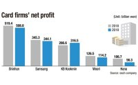'Income gap' widens among card issuers