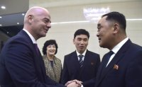 FIFA President 'disappointed' with absence of fans at inter-Korean match