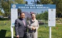 Star actress donates for Korean War memorial in California