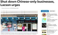 Chinese-only businesses in Philippines under probe