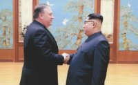 Pompeo photos - Trump's media play on Korea summit?
