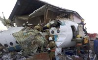 12 killed, dozens hurt after plane crashes in Kazakhstan
