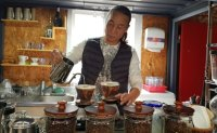 Builder-turned-barista settles down on small island
