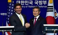 Defense chiefs of South Korea, US discuss pending alliance issues