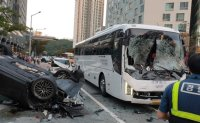 Seven people injured in Busan accident; man under probe for driving under influence of drugs