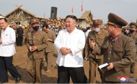 North Korean leader visits flood-hit area for 2nd time to check recovery efforts