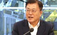 Moon visits new car factory in Gwangju