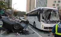 Speeding Porsche causes seven vehicle collision in Busan