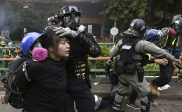 Campus under siege as Hong Kong police battle protesters [PHOTOS]