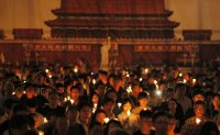Tiananmen Square massacre marked with Hong Kong candlelight vigil