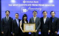 Shinhan Bank Vietnam wins PM award