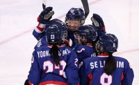 Women's ice hockey team makes 1st Olympic goal