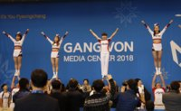 Cheerleaders from 8 countries perform in PyeongChang