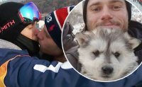 US Olympic skier adopts puppy from South Korean dog farm