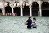 Venice inundated by exceptional tide; flooding hits Italy