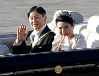 Over 100,000 greet Japan's emperor at enthronement parade
