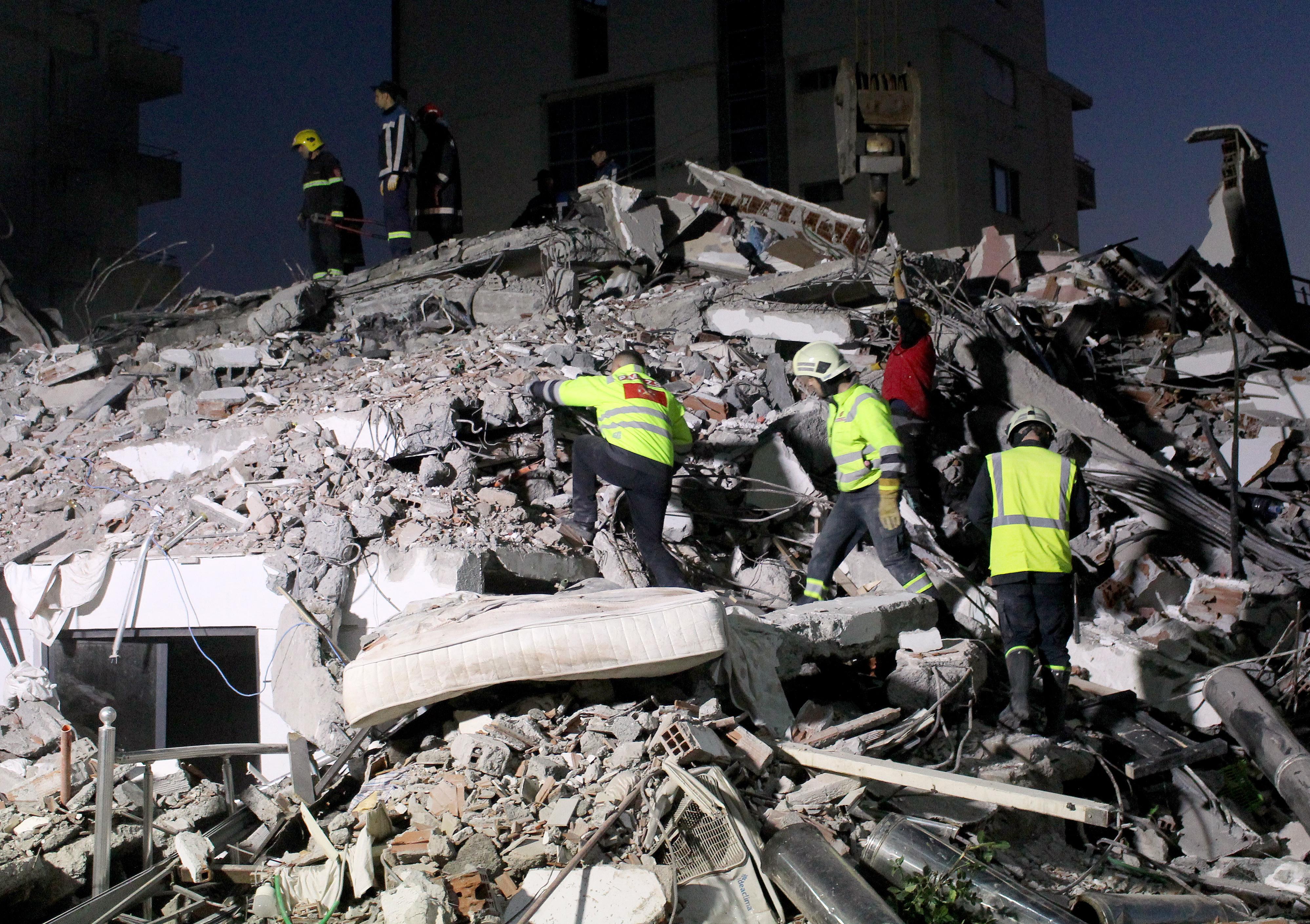 Powerful quake kills 21 in Albania as buildings bury residents