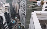 Police investigate after Russian films himself skateboarding atop Hong Kong skyscraper