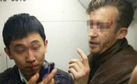 Chinese man and foreigner in bloody Beijing subway brawl