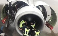 Elderly passenger throws coins into engine for 'luck', delays take-off