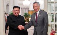 Kim Jong Un meets Singapore PM Lee Hsien Loong