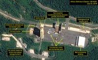 Satellite images show North Korea dismantling key missile test site