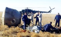 Crew of Soyuz rocket survive emergency landing after engine problem