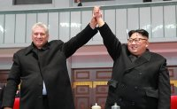 North Korean leader watches 'Mass Games' with Cuban President