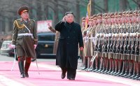 North Korean leader Kim Jong Un celebrates army anniversary