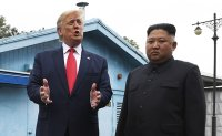 Trump crosses over the DMZ while meeting with Kim Jong-un