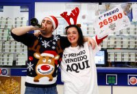 Spain dishes out $2.43 billion in bumper Christmas lottery