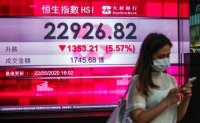 Hong Kong shares tumble as Beijing moves to tighten its grip