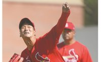 Cardinals' Kim Kwang-hyun trying not to get carried away after strong spring training debut