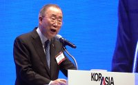 Ex-UN chief Ban Ki-moon stresses importance of Korea-ASEAN co-prosperity