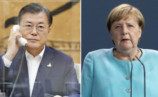 Moon seeks Germany's support for selection of WTO chief