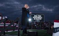 Trump upbeat - despite polls and virus spike - 10 days before vote