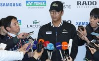 Chung Hyeon receives hero's welcome