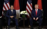 Trilateral cooperation mentioned during talks between Trump, Abe