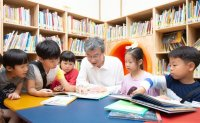Reading books with children