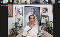 Video conference discusses Gandhian way in COVID-19 era