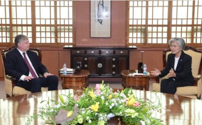 US 'strongly' supports inter-Korean cooperation: Biegun