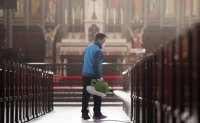 Historic cathedral suspends Mass