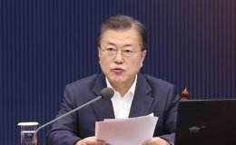 Moon expresses 'great concern' over Japan's plan to release contaminated water